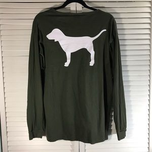 Olive green pink long sleeve w/ Logo